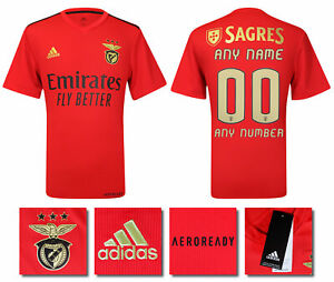 BNWT 2020 2021 BENFICA HOME ADIDAS SHIRT PERSONALISED = MENS SIZES