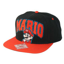 NINTENDO - SUPER MARIO BRO'S MARIO BLACK AND RED SNAPBACK CAP HAT (NEW)