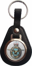 THE ROYAL AIRFORCE RAF BONDED LEATHER KEYRING