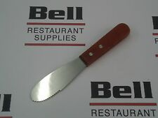 """*New* Update Ws-6 Wood Handle 6"""" Serrated Butter Spreader - Free  00004000 Shipping!"""
