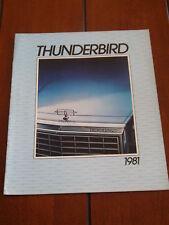 1981 FORD THUNDERBIRD ***ORIGINAL SALES BROCHURE***