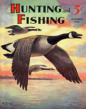 Duck Hunting Vintage Magazine Poster Art Commander Ducks Antique Decoys MAG06
