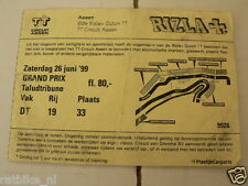 1999 TICKET DUTCH TT ASSEN 1999 GRAND PRIX,MOTO GP TALUDTRIBUNE