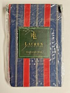 NEW Ralph Lauren STANDARD Sham CARLISLE STRIPE Red & Blue