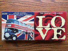 British Rock & Greatest Love Album Cd Sets/3 Cd'S Per Set Item #678-20