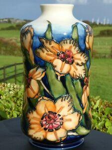 Beautiful, bold, imposing rare Moorcroft SPIRAXIA  98/11 vase by EMMA BOSSONS.