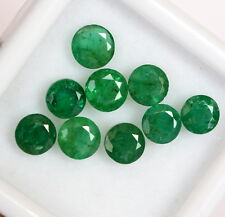 Natural Emerald Round Cut 4.50 mm Lot 09 Pcs 3.47 Cts Green Shade Loose Gemstone