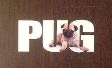 OFF CENTRE DESIGN AND PRINT PUG PRINTED STICKER DECAL 10cm PRESENT PET DOG PUGS