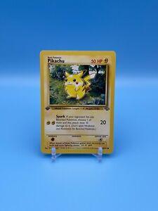 PIKACHU 60/64 1st First Edition Jungle Common Pokemon Card NM/MINT 1999