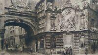 Gravure Rouen eau-forte la Fontaine du Gros Horloge Charles PINET XIXème siècle