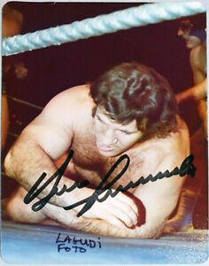 1970's -Bruno Sammartino- JSA Signed/Autograph/Auto Lagudi Wrestling Photo