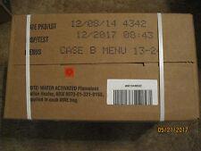 Genuine US Military Case of MRE's Menu B 13-24 Insp Date 12-2017(Factory Sealed)