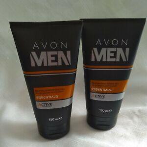 2 x Avon Men Revitalising Shave Gel Active Technlogy 150ml New Old Stock