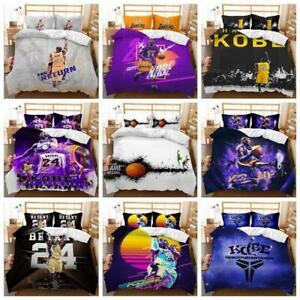 Kids Boys Favourite Basketball Star Doona Duvet Cover Set Single Queen Bed Size