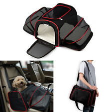 Dog Cat Carrier Backpack Belt Booster Secure Safety Travel Car Seat Cover Bag