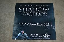 Middle Earth Shadow of Mordor Vinyl Display Poster THEATER QUALITY STOCK!!!