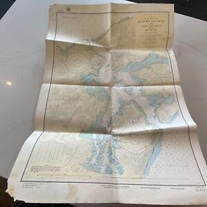 Antique US Navy Map 1926/1941 Updates Japan West Coast #2072