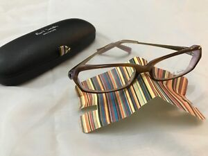 BN AUTHENTIC PAUL SMITH OPTICAL FRAMES GLASSES PS-404 SYCLV BROWN/PURPLE & CASE