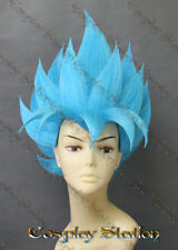 Super Saiyan God Goku Blue Custom Made Cosplay Wig_commission870