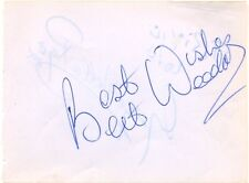 Bert Weedon + George Roper signed autograph book page English guitarist comedian