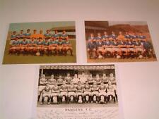 Rangers FC various 1960's team photos