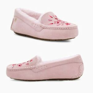 UGG Ansley Blossom Suede Moccasins Slipper Women's US Size 9 Pink