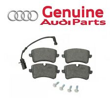 Rear Disc Brake Pad Set with Shims Clips & Sensor OES for Audi A6 A7 Quattro RS5