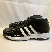 New Adidas Pro Model 2G Bounce Black White Basketball Shoes EF9821 Men's Size 13