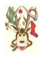 Retro Reindeer & Christmas Stocking DIGITAL Cross Stitch Pattern Needlepoint