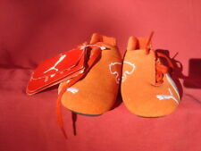 NWT Puma Ferary Red Orange Genuine Suede Leather Boys Girls Sneakers Shoes 9