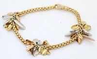 Fope heavy 18K 2-tone gold high fashion fancy tassel chain bracelet