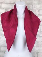 """Women's Silk Square Scarf Dark Pink Magenta Hair Neck Scarf 24x25"""""""