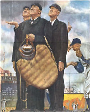 Norman Rockwell The Three Umpires Baseball Art Prints size 11x14 inches 10019