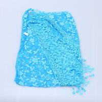 NEW AUTUMN SUMMER WOMENS EMBROIDERY ROSE LACE TRIANGLE PENDANT SCARF SHAWL WRAP