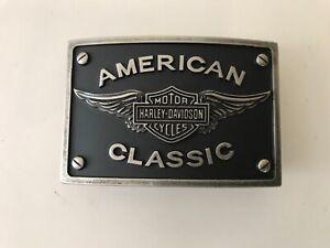 Harley-Davidson men's American Classic belt buckle.#HDMBU10435.Antique nickel .