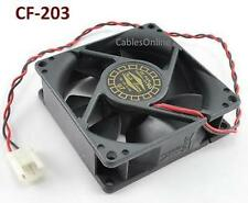 2-Pin 80mm CPU Case / Power Supply Sleeve Bearing Cooling Fan, CF-203