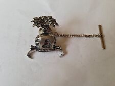 C5   Hood Tie Pin With Chain english pewter handmade in sheffield