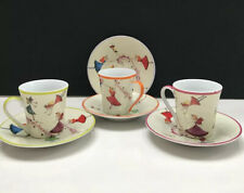 CLASSIC Coffee & Tea Fairy Cups and Saucers, Set of 3 + Extra Saucer