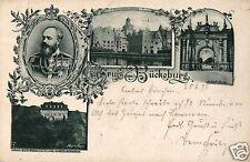 3621/ Foto AK, Gruss aus Bückeburg, Zugstempel Zug 3, 1898