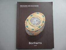Fine Silver and Gold Boxes. Bonhams. London, 18 June 2014
