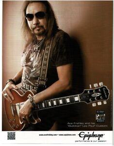 2012 EPIPHONE Budokan Les Paul Custom Electric Guitar ACE FREHLEY Vintage Ad
