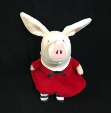 "Olivia The Pig Doll Plush Stuffed Red Sailor Dress 9"" Merrymakers"