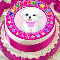 environ 19.05 cm Bow numéro Joyeux Anniversaire Personnalisé 7.5 in pré-découpé Comestible Cake Topper 550 A