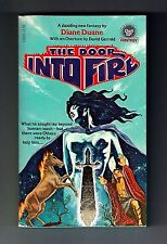 THE DOOR INTO FIRE (SIGNED by Diane Duane/PBO/author's 1st sf/fantasy novel)