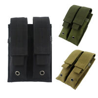 Tactical Molle Double Magazine Pouch Holster Pistol Mag Holder for Hunting