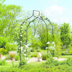 Outdoor Garden Traditional Gothic Metal Arch Decorative Climbing Plant Archway