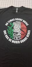 t shirt mexico black medium 100% cotton new