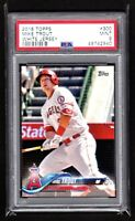 MIKE TROUT  ANGELS  2018 TOPPS #300 WHITE JERSEY  - PSA 9 MINT   QTY.