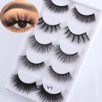 5Pairs SKONHED Natural Mink Hair False Eyelashes Eye Lashes Wispy Flutter-Lashes