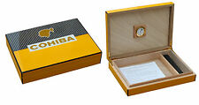 "BEAUTIFUL PIANO FINISHED CLASSIC COHIBA 10-15 CIGAR HUMIDOR ""SHIPPED FROM USA"""